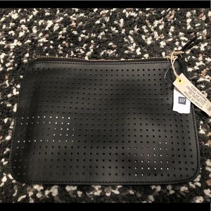 Gap Cow Leather Perforated Makeup/Clutch Bag